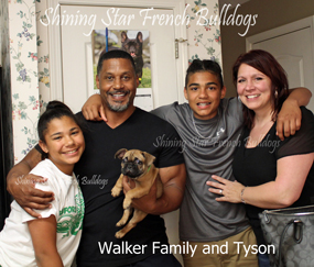 Walker family with Tyson